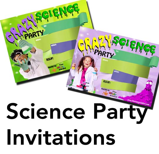 Kids Science Party Invitations